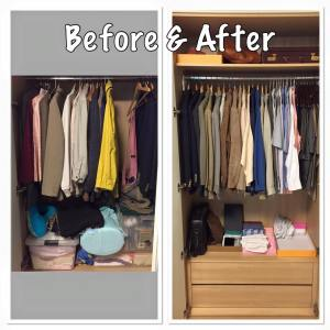 Zen Makeover for Wardrobe - before and after pic